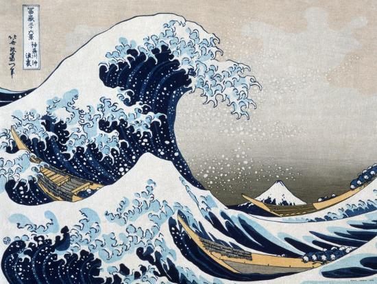 The Great Wave at Kanagawa (from 36 views of Mount Fuji), c.1829-Katsushika Hokusai-Art Print