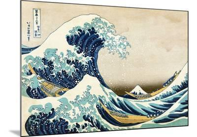 The Great Wave at Kanagawa (from 36 views of Mount Fuji), c.1829-Katsushika Hokusai-Mounted Print