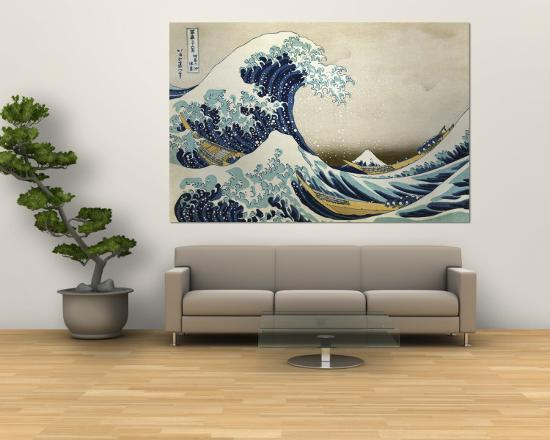 The Great Wave Off Kanagawa C 1829 Wall Mural By Katsushika Hokusai Art