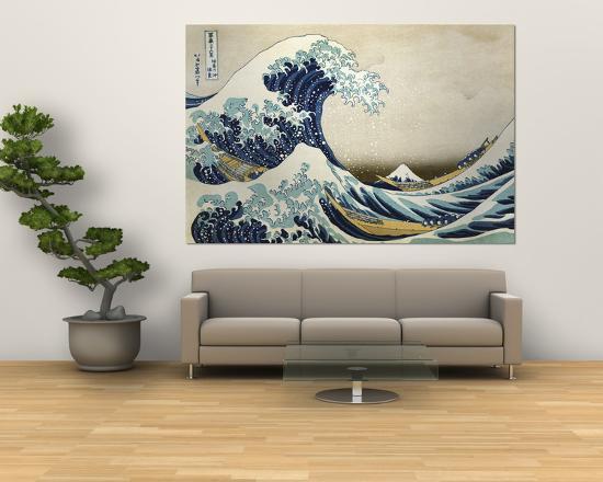 The Great Wave Off Kanagawa , c.1829-Katsushika Hokusai-Giant Art Print