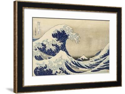 The Great Wave off Kanagawa, c.1830-Katsushika Hokusai-Framed Giclee Print
