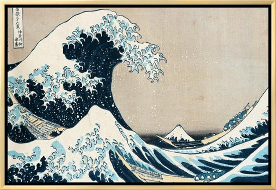 "The Great Wave Off Kanagawa, from the Series ""36 Views of Mt. Fuji"" (""Fugaku Sanjuokkei"")-Katsushika Hokusai-Framed Canvas Print"