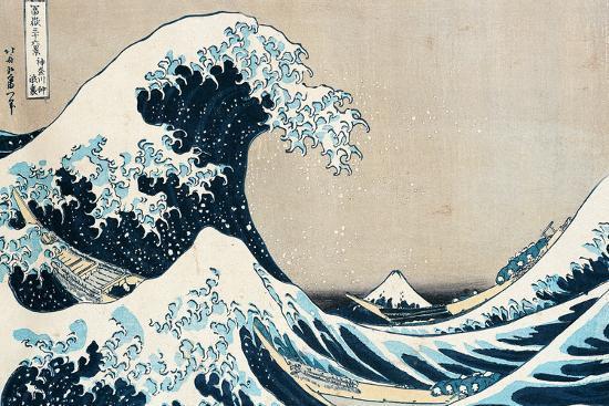 "The Great Wave Off Kanagawa, from the Series ""36 Views of Mt. Fuji"" (""Fugaku Sanjuokkei"")-Katsushika Hokusai-Premium Giclee Print"