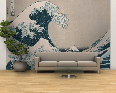 "The Great Wave Off Kanagawa, from the Series ""36 Views of Mt. Fuji"" (""Fugaku Sanjuokkei"")-Katsushika Hokusai-Wall Mural – Large"