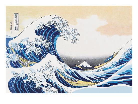 The Great Wave Off Kanagawa-Katsushika Hokusai-Art Print
