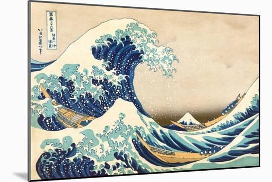 The Great Wave off Kanagawa-Katsushika Hokusai-Mounted Art Print