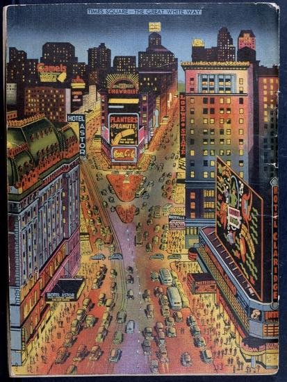 The Great White Way Times Square, New York City, Illustration from the New York Illustrated, 1938--Giclee Print