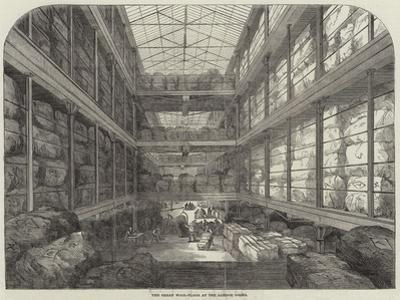 The Great Wool-Floor at the London Docks