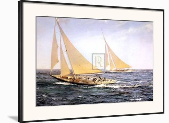 The Greatest Race-Montague Dawson-Framed Art Print