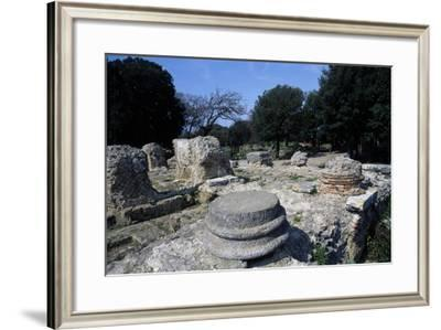 The Greco-Roman Temple Cumae, Campania, Italy--Framed Giclee Print