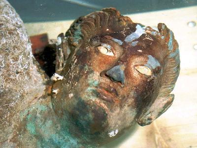 The Greek Bronze Statue of Aeolus--Photographic Print