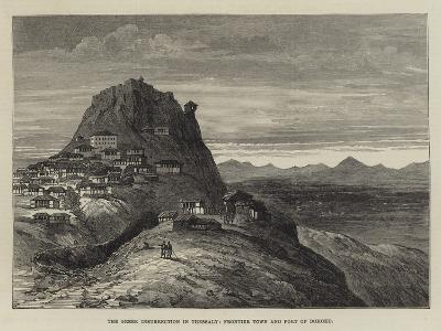 The Greek Insurrection in Thessaly, Frontier Town and Fort of Domoko--Giclee Print