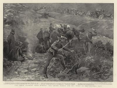 The Greek Retreat from Domoko, the Crown Prince and His Staff in the Phourka Pass-Henry Marriott Paget-Giclee Print