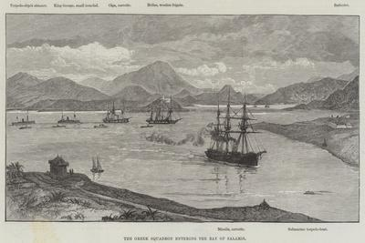 The Greek Squadron Entering the Bay of Salamis--Giclee Print