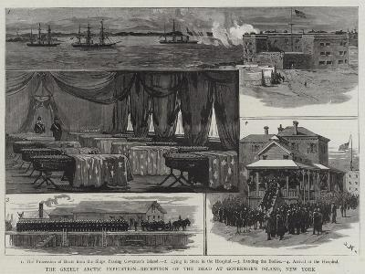 The Greely Arctic Expedition, Reception of the Dead at Governor's Island, New York-Joseph Nash-Giclee Print