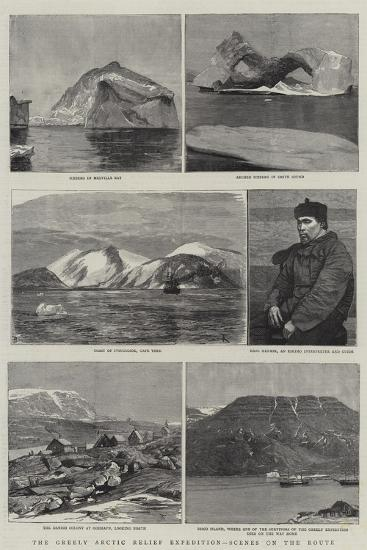The Greely Arctic Relief Expedition, Scenes on the Route--Giclee Print