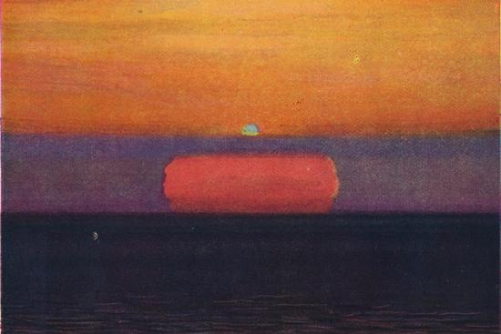 'The Green Flash at Sunset, Rarest Prismatic Colour Refracted by the Atmosphere', c1935-Unknown-Giclee Print