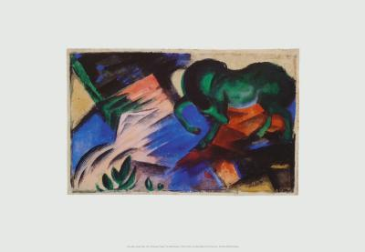 The Green Horse, c.1912-Franz Marc-Art Print