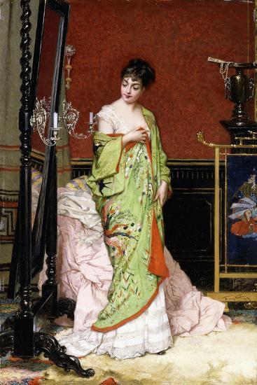 The Green Kimono, 1876-Frans Verhas-Giclee Print