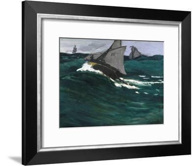 The Green Wave-Claude Monet-Framed Giclee Print
