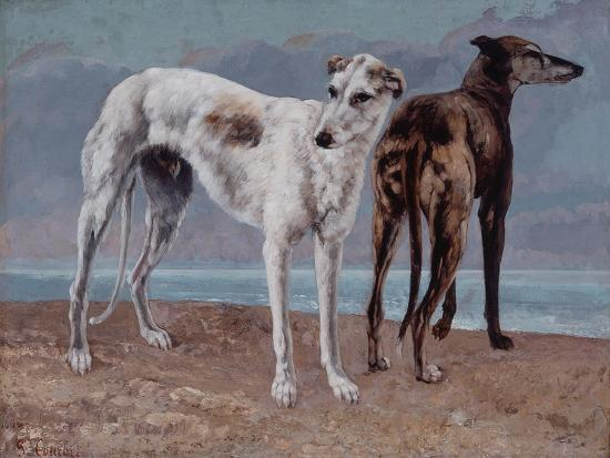 The Greyhounds of the Comte De Choiseul, 1866-Gustave Courbet-Giclee Print