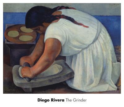 The Grinder, c.1926-Diego Rivera-Art Print