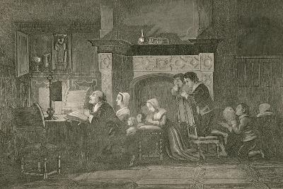 The Grocer and His Family at Prayers-John Franklin-Giclee Print
