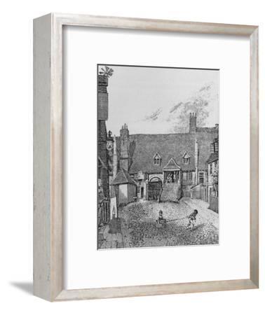 The Guard Room, Scotland Yard, Westminster, 1805 (1911)-John Thomas Smith-Framed Giclee Print