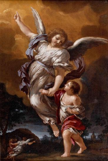 The Guardian Angel (After Pietro Da Corton)-Ciro Ferri-Giclee Print