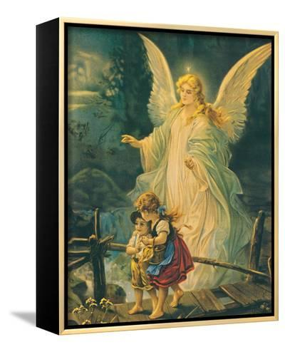 The Guardian Angel-The Victorian Collection-Framed Canvas Print