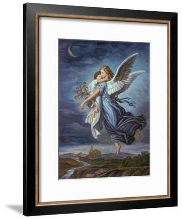 The Guardian Angel-Wilhelm Von Kaulbach-Framed Giclee Print