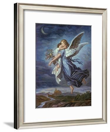 The Guardian Angel-Wilhelm Von Kaulbach-Framed Giclee Print