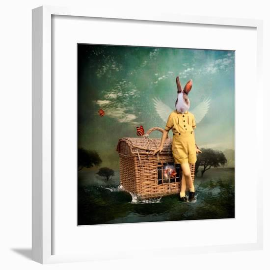 The Guardian of The Universe-Martine Roch-Framed Art Print