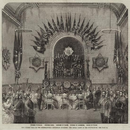 The Guards' Ball in the International Exhibition Building, the Royal Party in the Supper-Room--Giclee Print