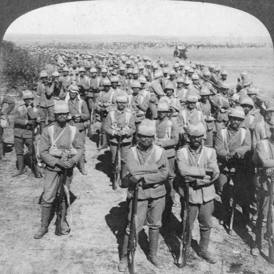 The Guards Brigade on the March to Kroonstadt, South Africa, Boer War, 1900-Underwood & Underwood-Giclee Print