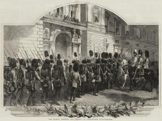 The Guards Cheering Her Majesty at Buckingham Palace--Giclee Print