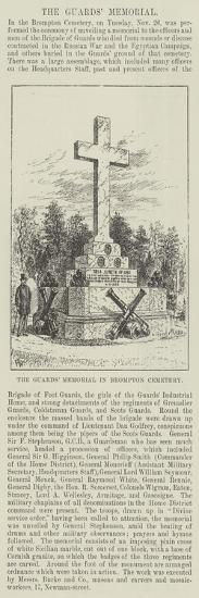The Guards' Memorial in Brompton Cemetery-Frank Watkins-Giclee Print