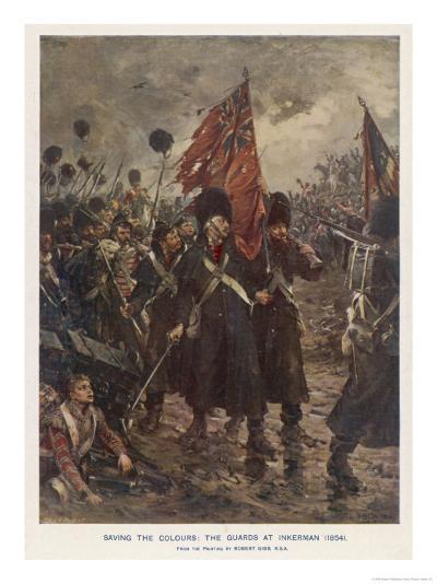 The Guards Saving the Colours-Robert Gibb-Giclee Print
