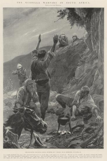 The Guerilla Warfare in South Africa-Richard Caton Woodville II-Giclee Print