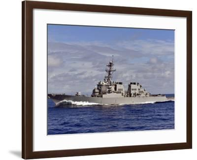 The Guided-missile Destroyer USS Higgins Transits the Pacific Ocean-Stocktrek Images-Framed Photographic Print
