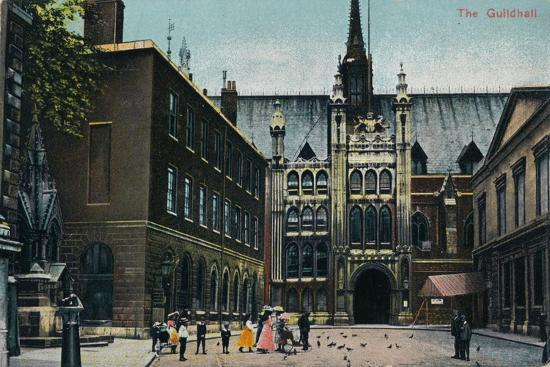 'The Guildhall', c1910-Unknown-Giclee Print
