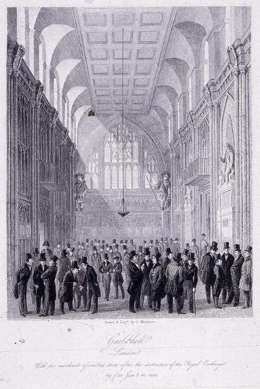The Guildhall, London, 1838-C Matthews-Giclee Print