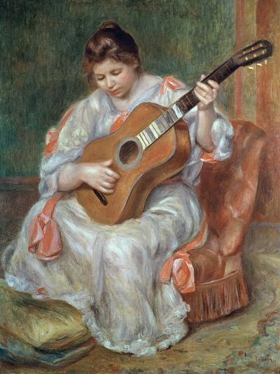 The Guitar Player, 1897-Pierre-Auguste Renoir-Giclee Print
