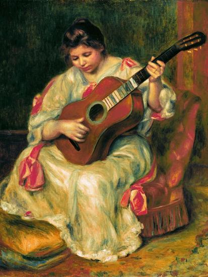 The Guitar Player-Pierre-Auguste Renoir-Giclee Print