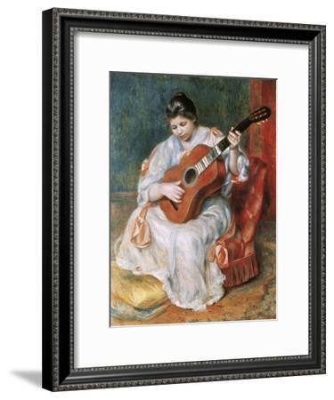 The Guitar Player-Pierre-Auguste Renoir-Framed Giclee Print
