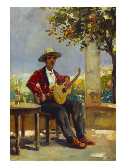 The Guitar Player-Julio Vila y Prades-Giclee Print