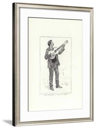The Guitarist, a Study in Rome-Phil May-Framed Giclee Print