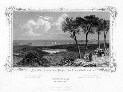 The Gulf of Baja from Camaldoli, Italy, 19th Century-J Poppel-Giclee Print