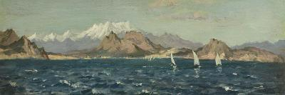 The Gulf of Rosas (Oil on Board)-Henry Moore-Giclee Print