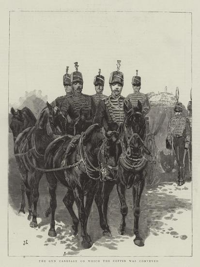 The Gun Carriage on Which the Coffin Was Conveyed-John Charlton-Giclee Print